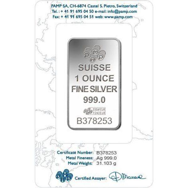 100 X 1 oz Lingotin Argent Pur Pamp Suisse Lady Fortuna Fine Silver Bar .999