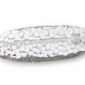 10 X 10 oz Pièce Argent Pur Scottsdale Mint Tombstone Fine Silver Nugget Bar .999