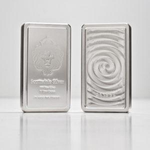 10 oz Lingotin Argent Pur Scottsdale Mint Stacker Fine Silver Bar .999