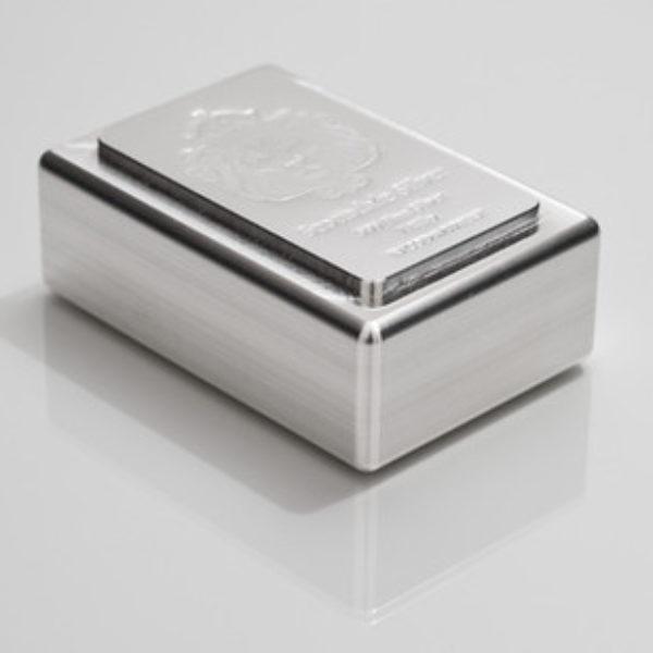 3 X1 Kilo Lingot Argent Pur Scottsdale Mint Stacker Fine Silver Ingot .999
