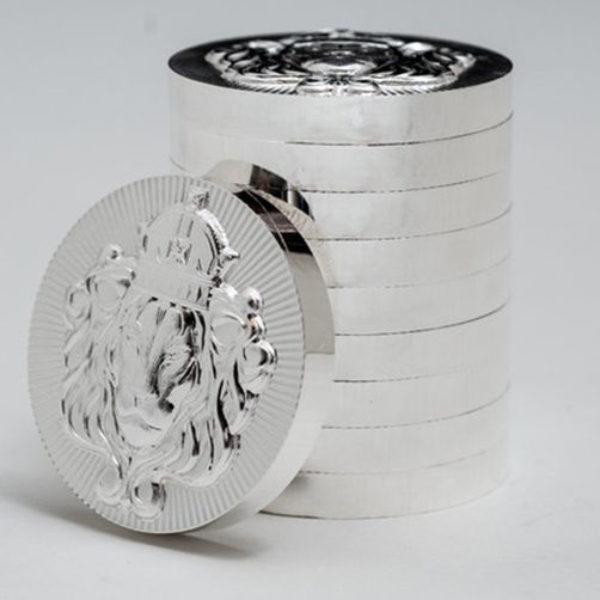 50 X 2 oz Pièce Argent Pur Scottsdale Mint Fine Silver Stacker Round .999