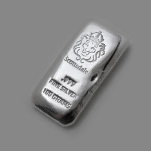 30 X 100 gr Lingotin Argent Pur Scottsdale Mint Fine Silver Bar .999