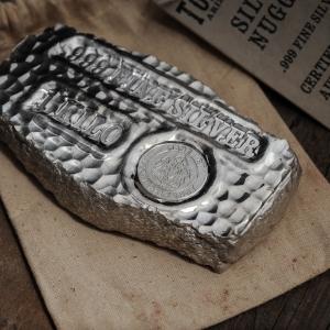 3 X 1 Kg Lingot Pépite Argent Pur Tombstone Scottsdale Mint Nugget 1 Kilo Fine Silver Bar .999