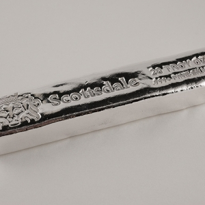 5 X 20 oz Lingotin Argent Pur Scottsdale Mint Fine Silver Bar .999