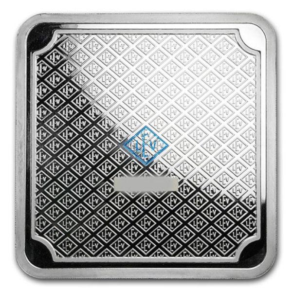 5 Kg Lingot Argent Pur Cube Geiger Edelmetalle Schloss Goldengossa Square Fine Silver Bar .999