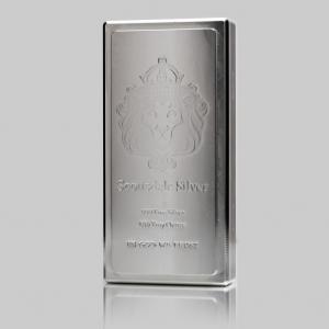 100 oz Lingot Argent Pur Scottsdale Mint King Stacker Fine Silver Ingot .999