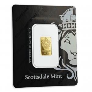 2 gr Lingotin Or Pur Scottsdale Mint Fine Gold Bar .9999
