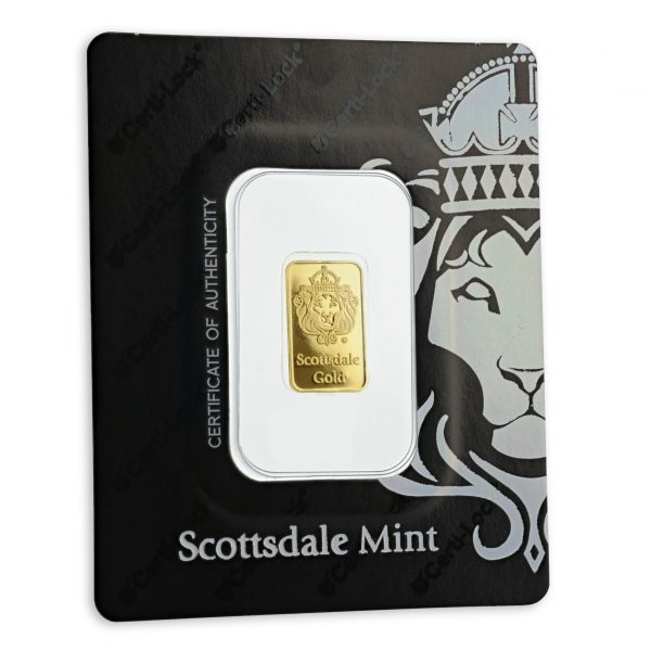 15 X 2 gr Lingotin Or Pur Scottsdale Mint Fine Gold Bar .9999