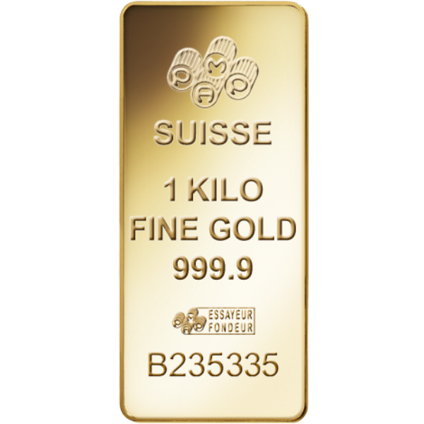 1 Kg Lingot Or Pur PAMP Suisse Lady Fortuna Kilogram Rectangular Fine Gold Ingot .9999
