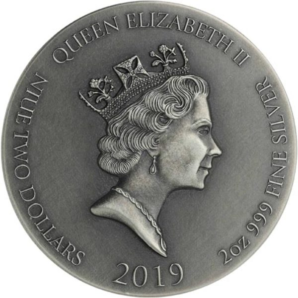 2 oz Pièce Argent Pur Couronne d'Épines Série Biblique Niue Crown Of Thorns Biblical  Fine Silver Coin .999