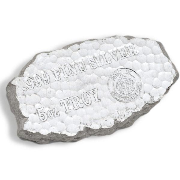 20 X 5 oz Lingotin Argent Pur Scottsdale Mint Tombstone Nugget Fine Silver Bar .999