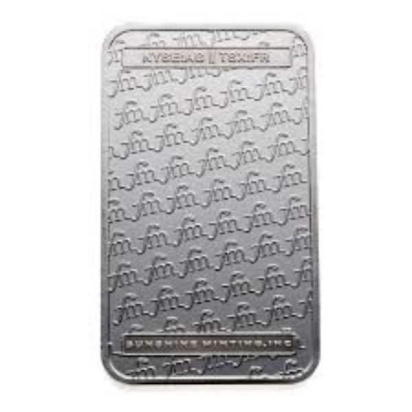 20 X 5 oz Lingotin Argent Pur First Majestic FM Fine Silver Ingot Bar .999