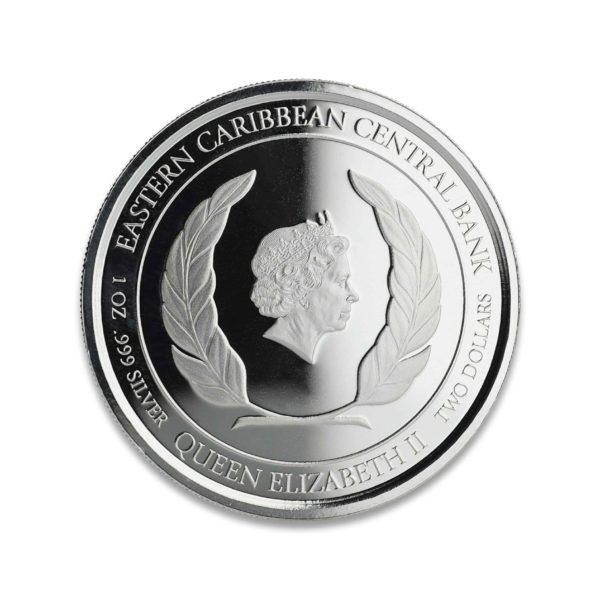 1 oz Pièce Argent Pur Ste-Lucie Flaminco St-Lucia Fine Silver Coin Proof .999 2019