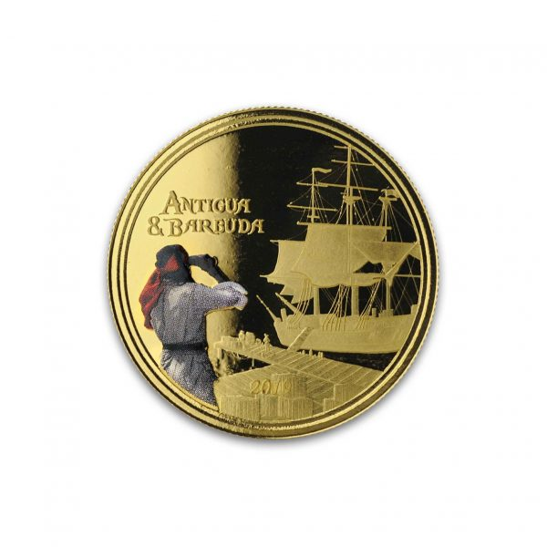 1 oz Pièce Or Pur Antigua & Barbuda Rum Runner Fine Gold Coin Proof .999 2019