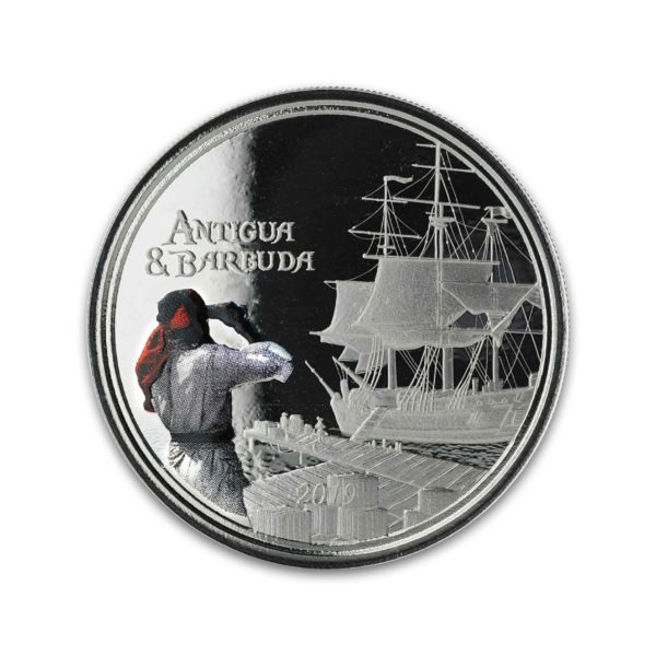 1 oz Pièce Argent Pur Antigua & Barbuda Rum Runner Eastern Caribbean Central Bank Fine Silver Coin Proof .999 2019