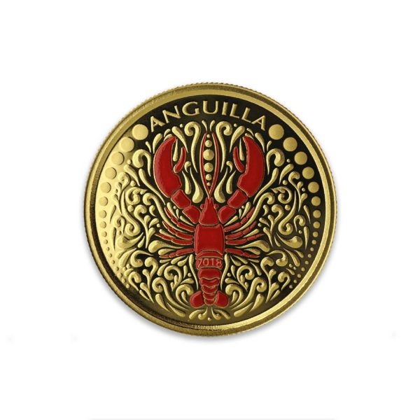 1 oz Pièce Or Pur Anguilla Homard Lobster Fine Gold Coin Proof .9999 2018