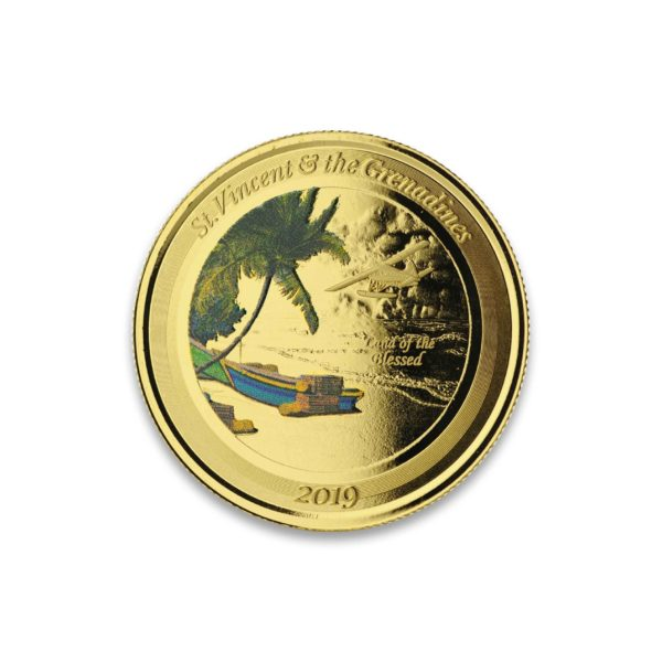 1 oz Pièce Or Pur St-Vincent & the Grenadines Seaplane Eastern Caribbean Central Bank Fine Gold Coin Proof .9999 2019
