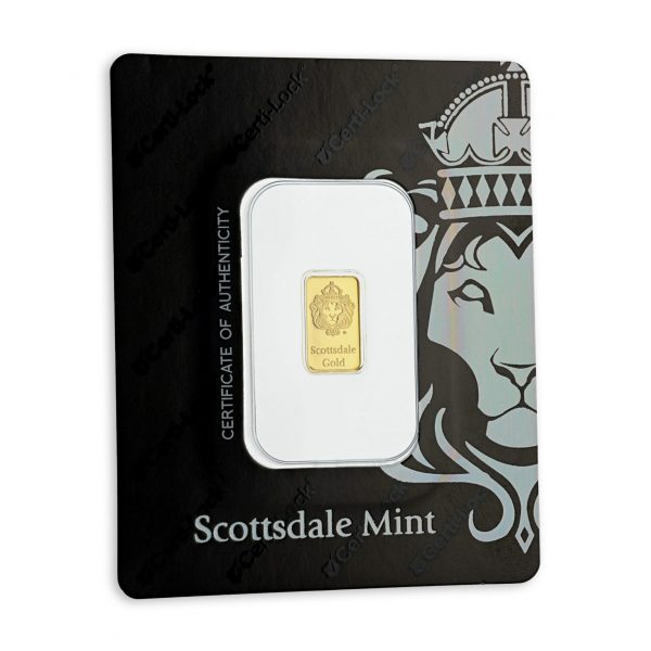 30 x 1 gr Lingotin Or Pur Scottsdale Mint Fine Gold Bar .9999