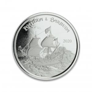 1 oz Pièce Argent Pur Antigua & Barbuda Rum Runner Eastern Caribbean Central Bank Fine Silver Coin .999 2020
