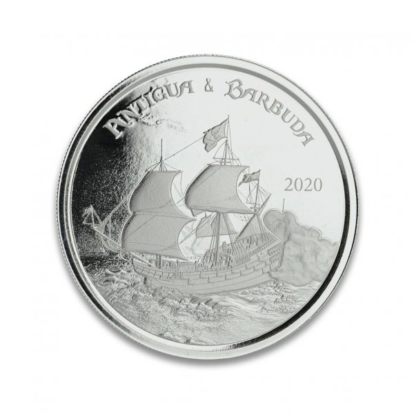 1 oz Pièce Argent Pur Antigua & Barbuda Rum Runner Eastern Caribbean Central Bank Fine Silver Coin .999 2020