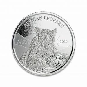 1 oz Pièce Argent Pur African Leopard Africain Ghana Fine Silver Bullion Coin .999 2020